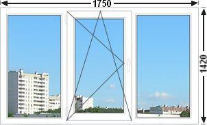 Цены на окна Трех створчатое