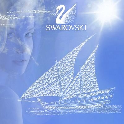 Кристаллы Swarovski в окне