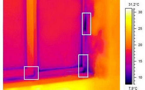 Окно инфракрасной камерой