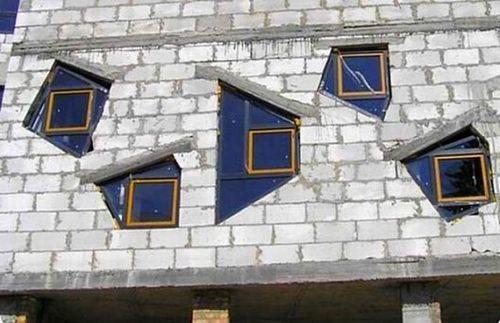 Установка окон после фасадных работ