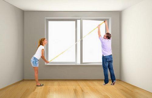 Как замерить окна с четвертью